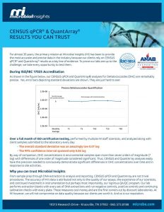 Census qPCR and QuantArray, Results You Can Trust
